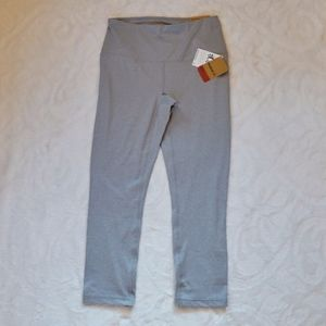 Reebok Grey Training Skinny Capri High Rise Leggin